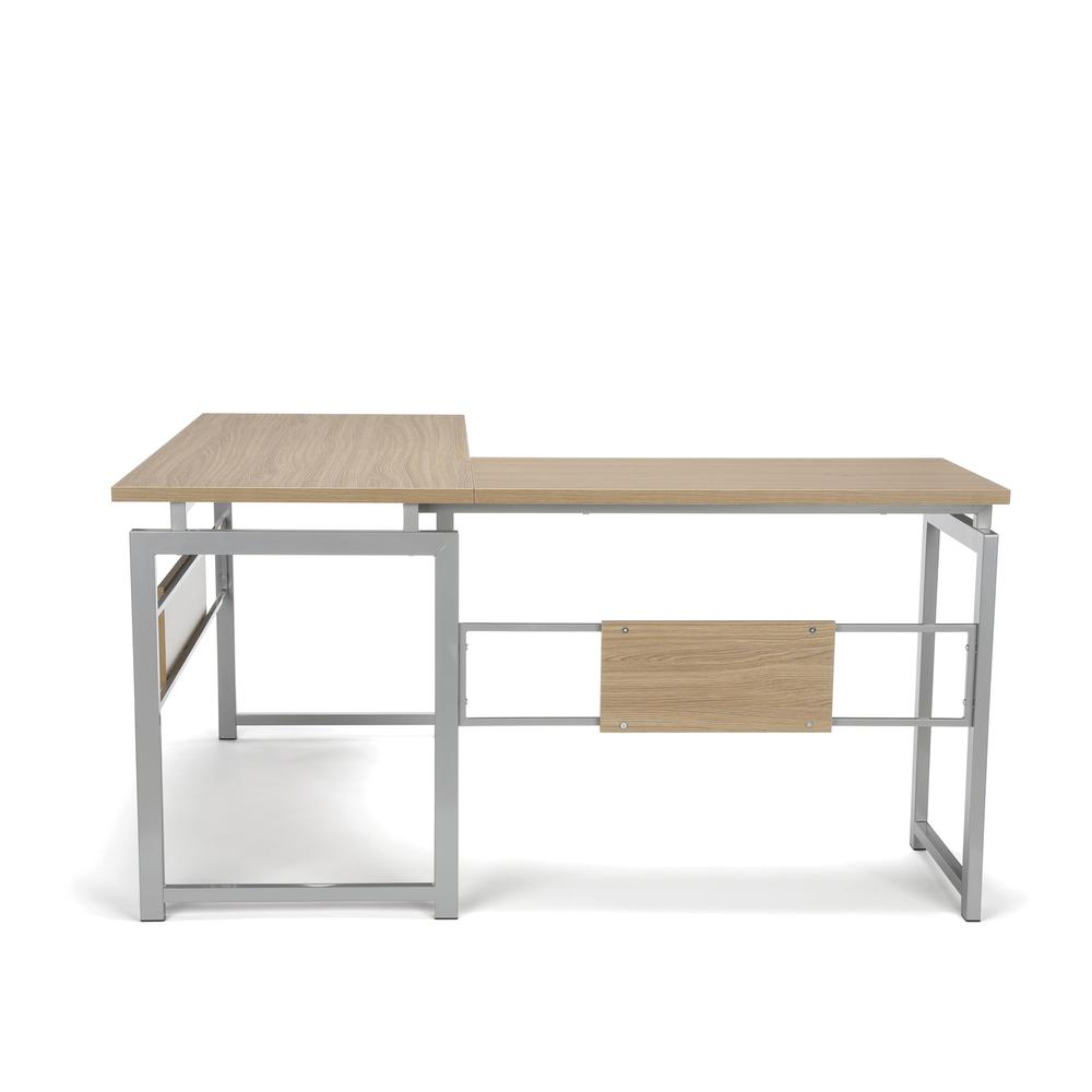Essentials by OFM ESS-1020 L Desk with Metal Legs, Harvest with Silver Frame. Picture 4