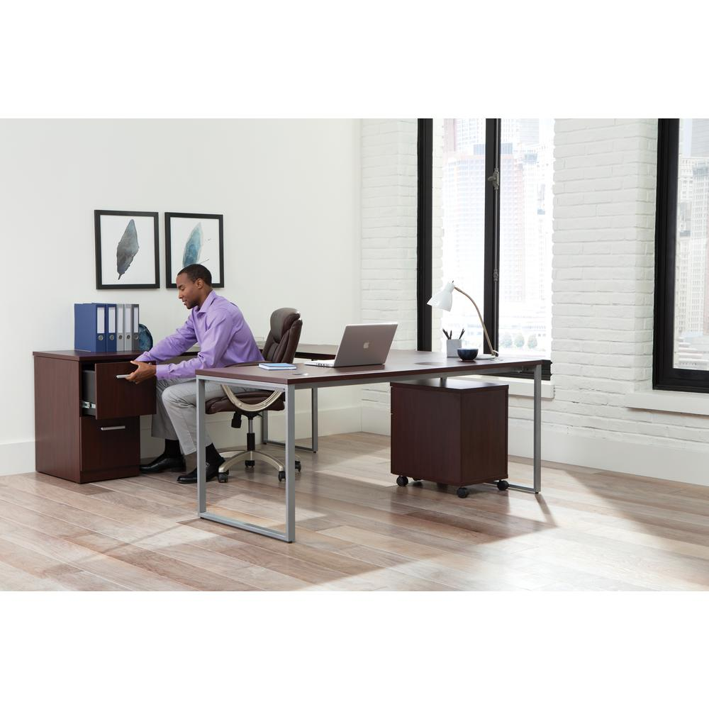 Essentials by OFM ESS-6020 Executive Office Chair, Brown with Champagne Frame. Picture 7