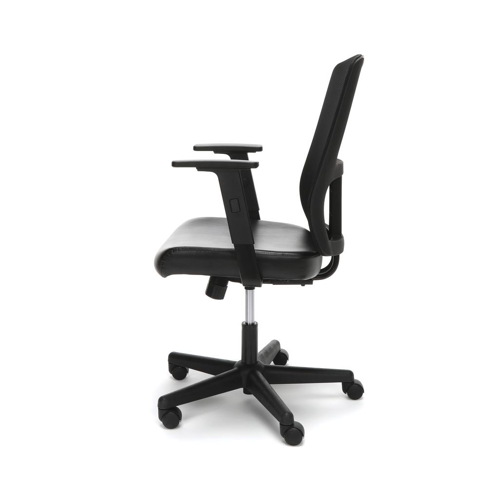 OFM ESS-3048 Mesh Back Chair with Bonded Leather Seat. Picture 5