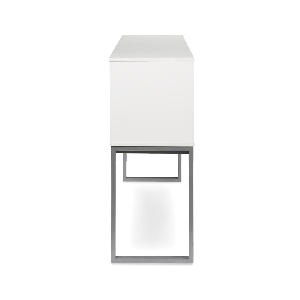 """OFM Fulcrum Series 60"""" Hutch with Doors, Office Cabinet for Storage, White (CL-H6015-WHT). Picture 5"""