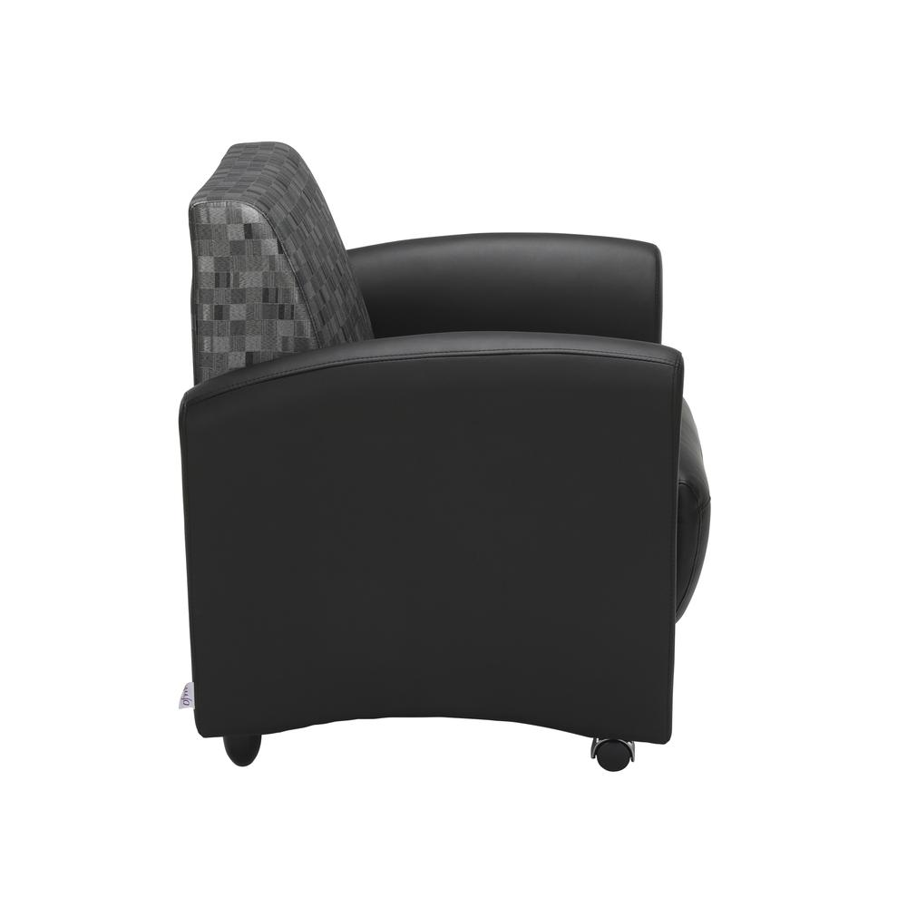 OFM InterPlay Series Single Seat Chair, in Nickel/Black (821-NCKL-PU606NT). Picture 4