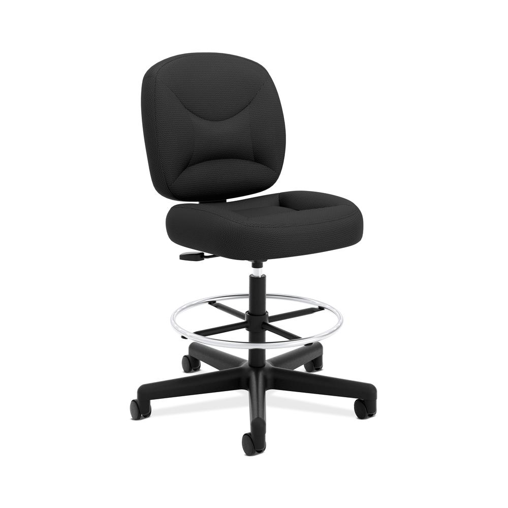 HON ValuTask Low-Back Task Stool Chair, in Black (HVL215). Picture 1