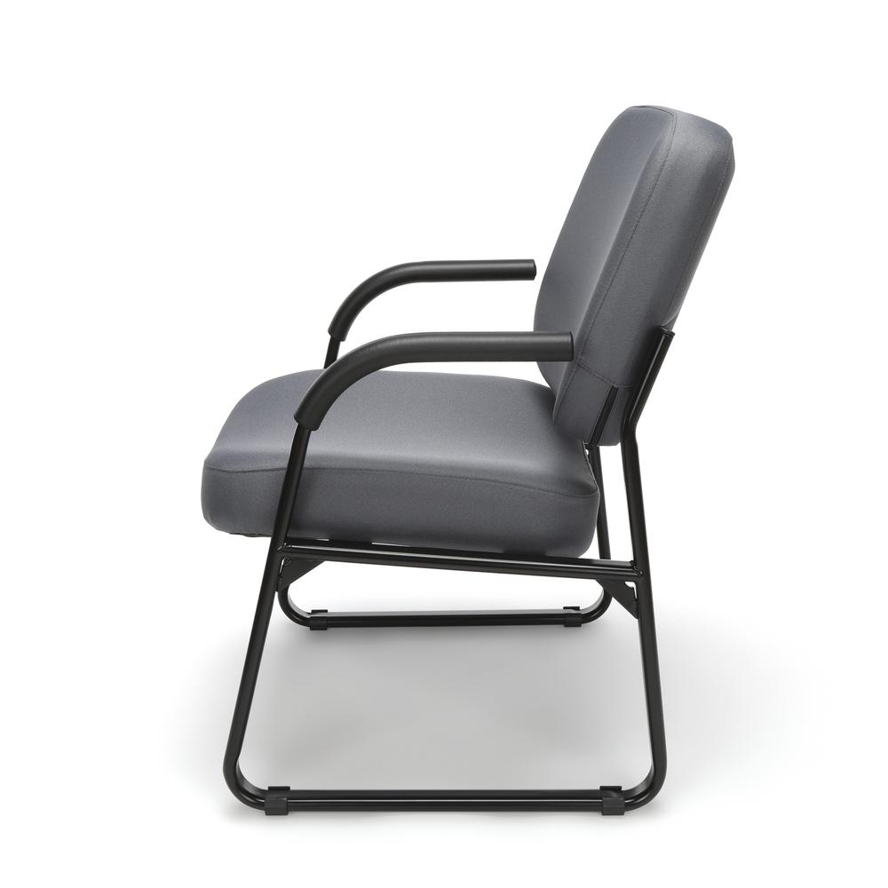 OFM Model 407 Fabric Big and Tall Guest and Reception Chair with Arms, Gray. Picture 5