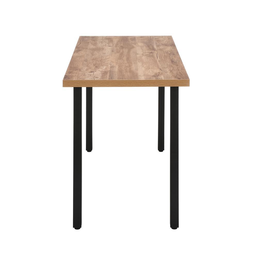 """OFM Essentials Collection 48"""" Table Desk, Knotty Oak Woodgrain (ESS-1051-BLK-KOA). Picture 5"""