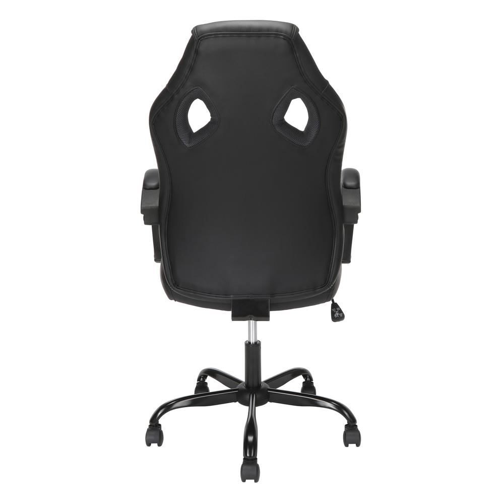 Essentials Collection High-Back Gaming Chair, Padded Loop Arms, in Gray (ESS-3083HB-GRY). Picture 3