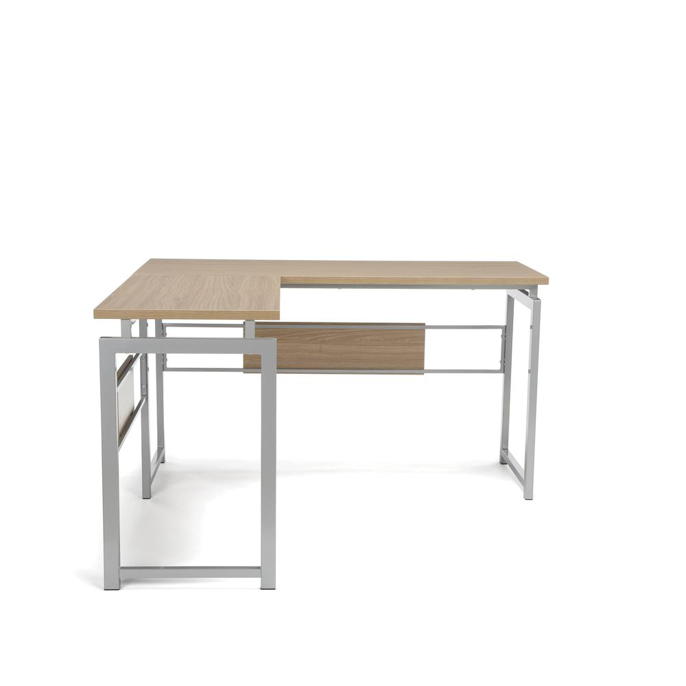Essentials by OFM ESS-1020 L Desk with Metal Legs, Harvest with Silver Frame. Picture 2