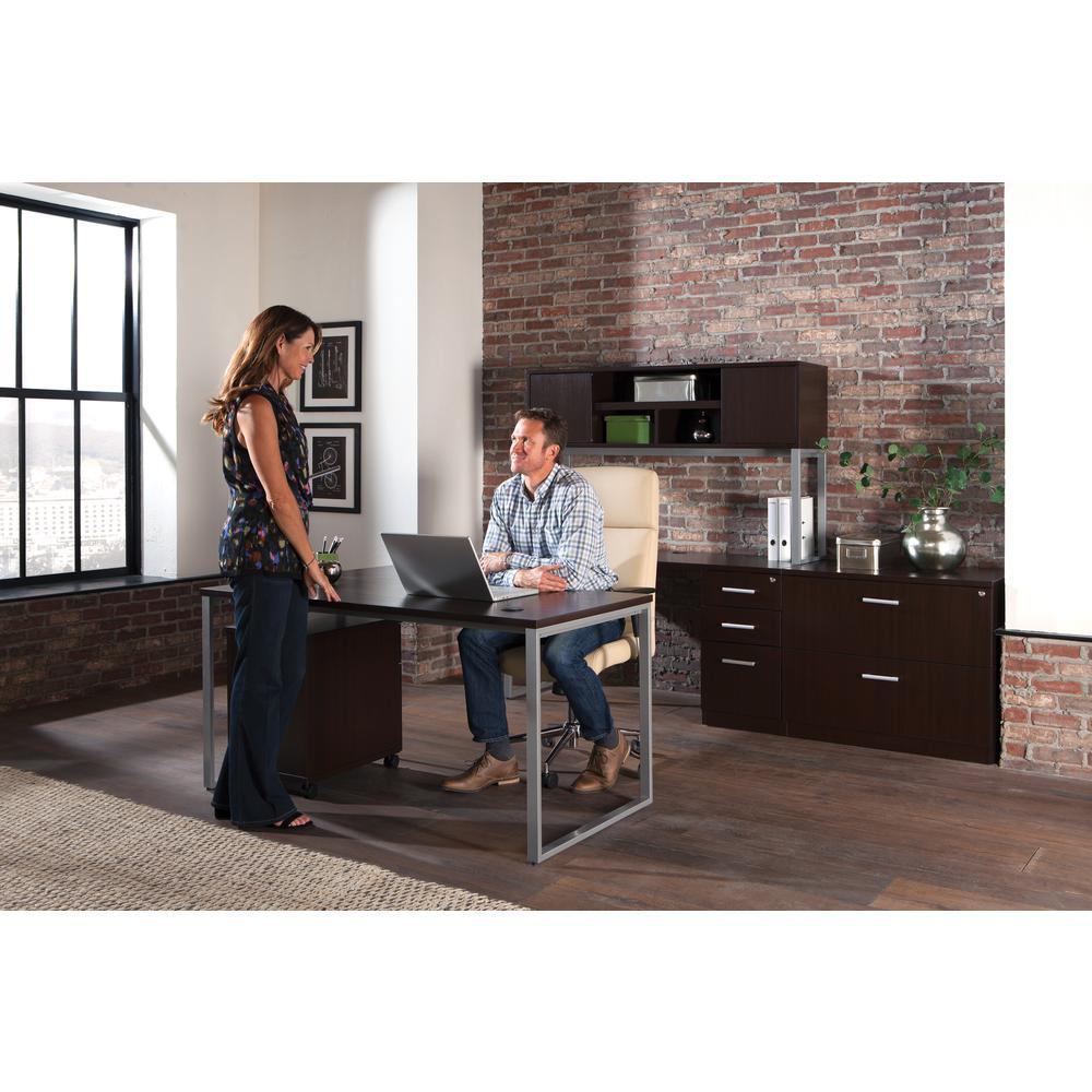 OFM Fulcrum Series Locking Pedestal, Mobile 2-Drawer Filing Cabinet, Espresso (CL-MBF-ESP). Picture 7