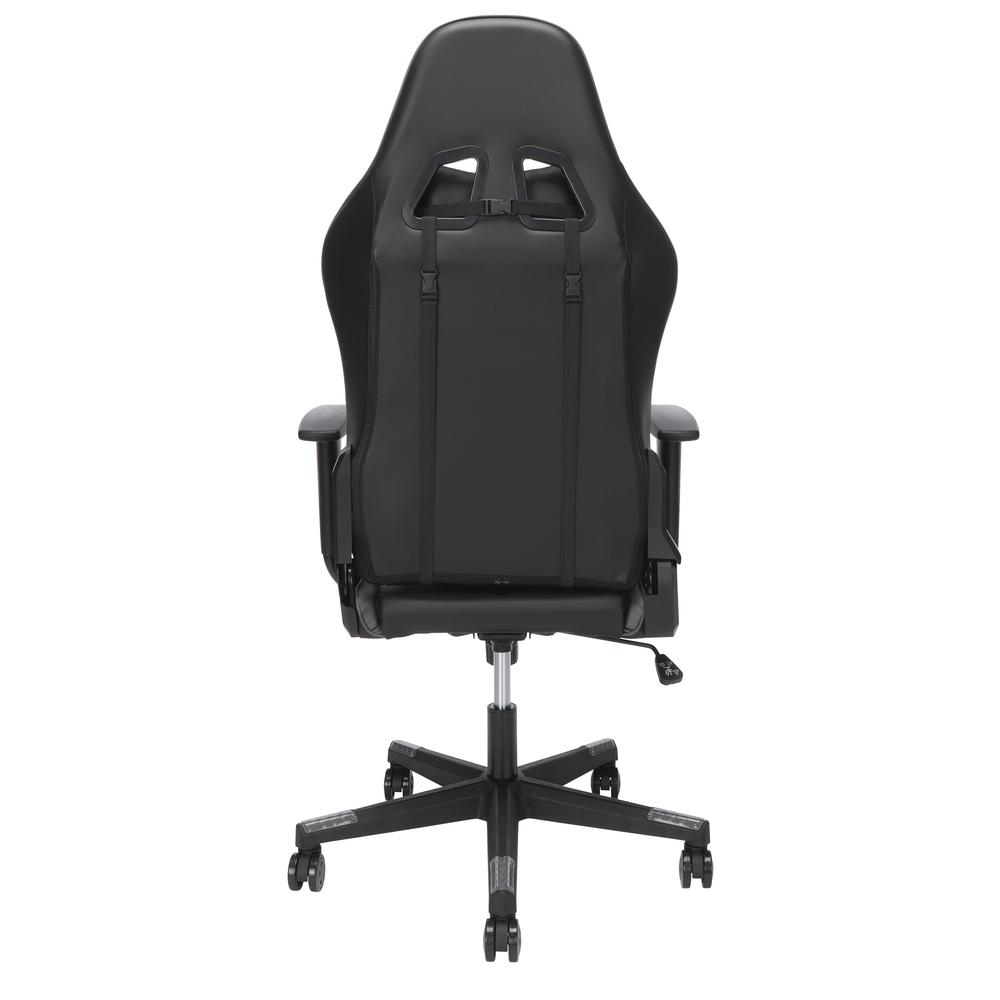 Essentials Collection High Back PU Leather Gaming Chair, in Grey (ESS-6075-GRY). Picture 3