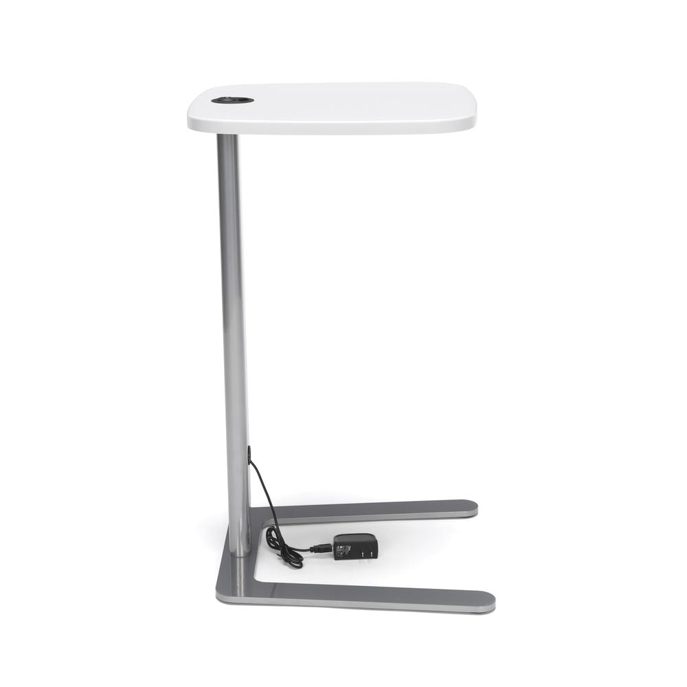 OFM Model ACCTAB Accent Table with USB Grommet, White. Picture 4