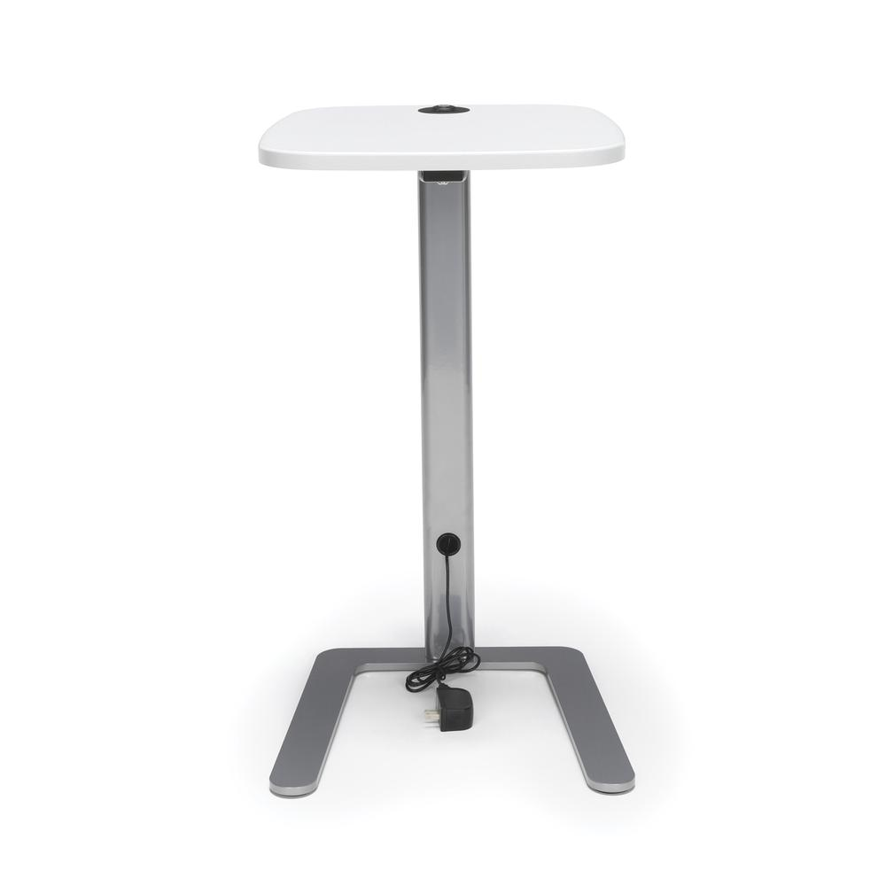 OFM Model ACCTAB Accent Table with USB Grommet, White. Picture 2