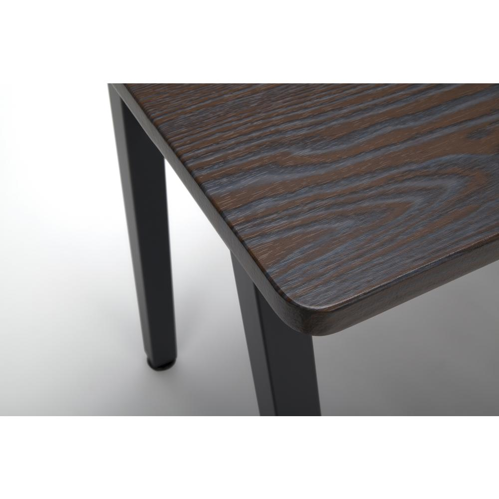 "OFM Essentials Collection 48"" Table Desk, in Wenge Woodgrain (ESS-1050-BLK-WEN). Picture 6"