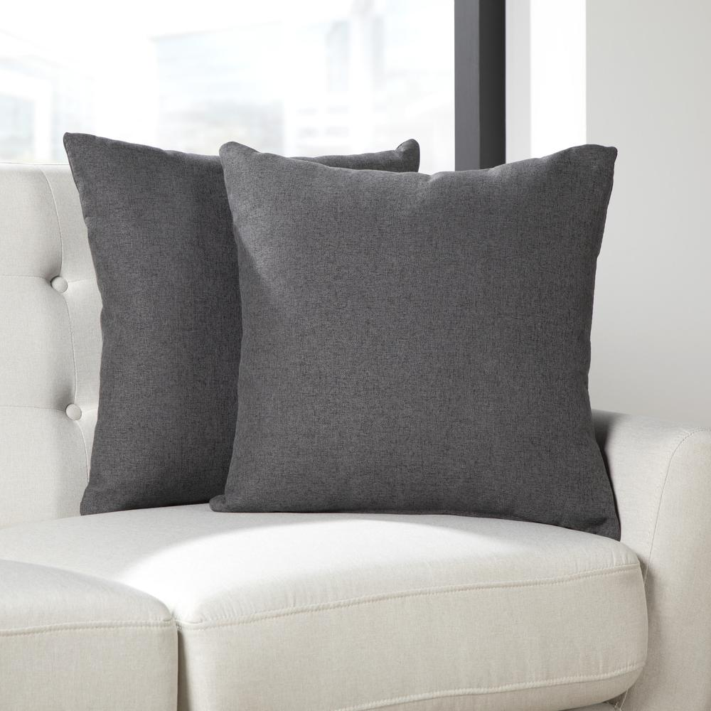 161 Collection Mid Century Modern 2-Pack 18 x 18 Accent Pillows, Dark Gray. Picture 11
