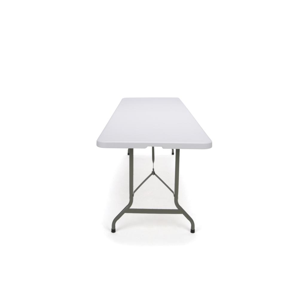 Essentials by OFM ESS-5096F 8' Blow Molded Center-Folding Utility Table, White. Picture 4