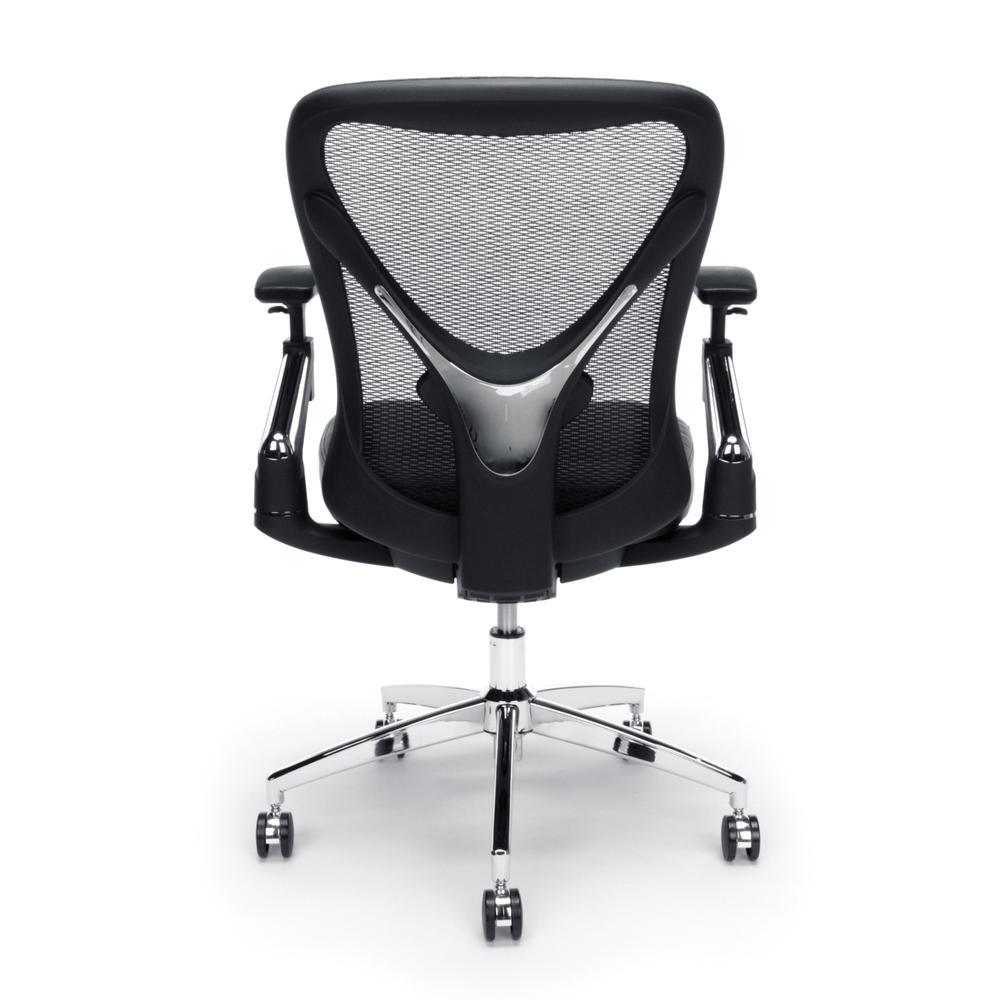 OFM Stratus Series Model 257-VAM 24-Hour Big & Tall High-Back Vinyl Mesh Chair,  Black. Picture 3