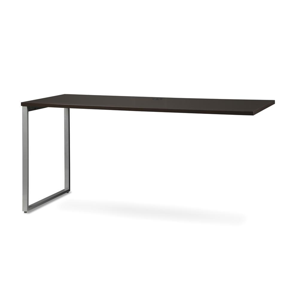 OFM Fulcrum Series 66x24 Credenza Desk, Desk Shell for Office, Espresso (CL-C6624-ESP). Picture 6