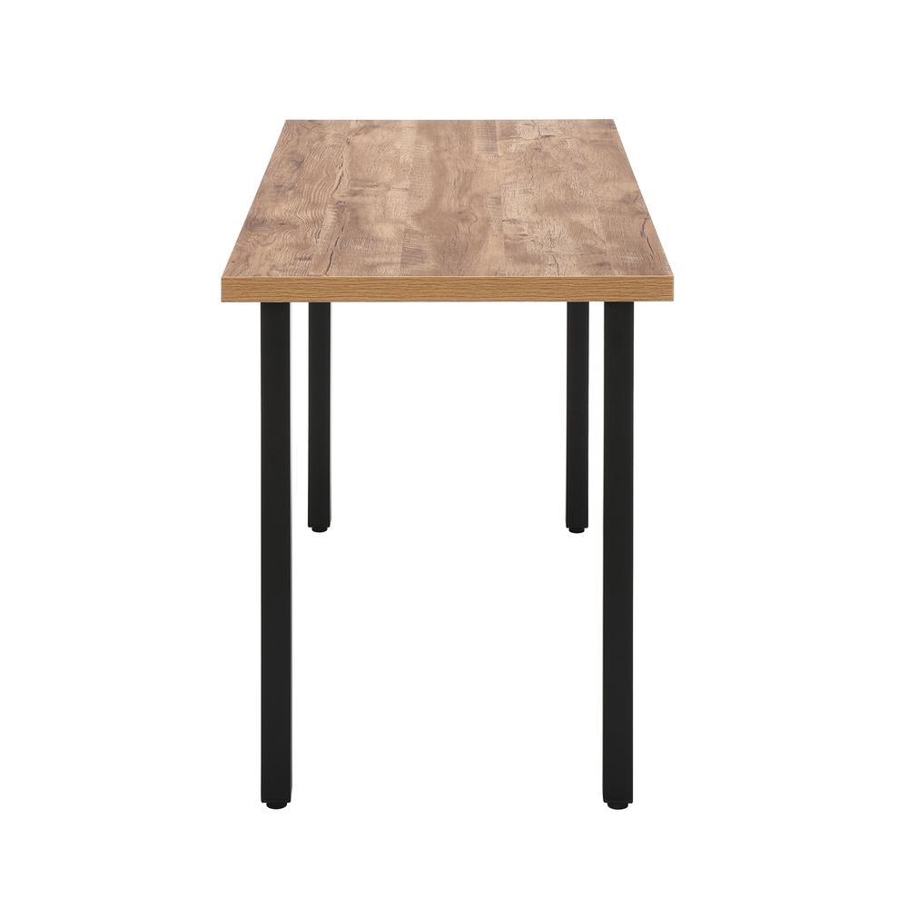 """OFM Essentials Collection 48"""" Table Desk, Knotty Oak Woodgrain (ESS-1051-BLK-KOA). Picture 4"""