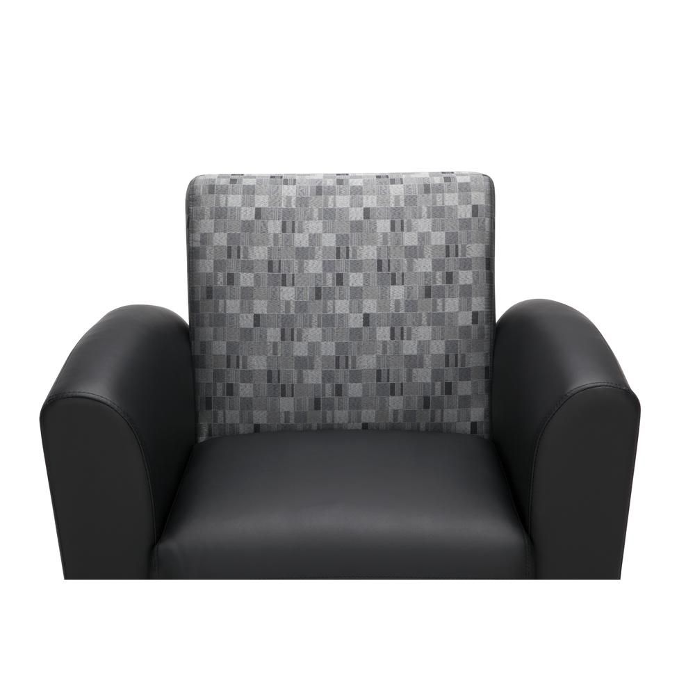 OFM InterPlay Series Single Seat Chair, in Nickel/Black (821-NCKL-PU606NT). Picture 6