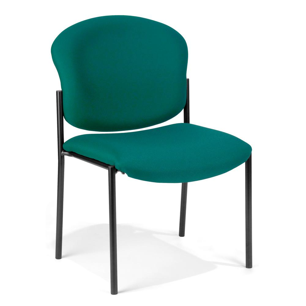 OFM Manor Series Model 408 Fabric Armless Guest and Reception Chair, Teal. Picture 1