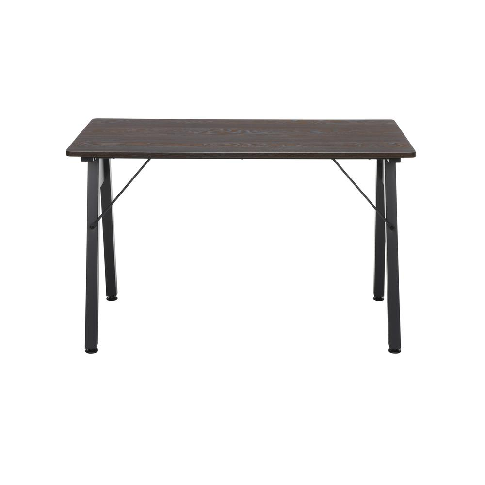 "OFM Essentials Collection 48"" Table Desk, in Wenge Woodgrain (ESS-1050-BLK-WEN). Picture 3"