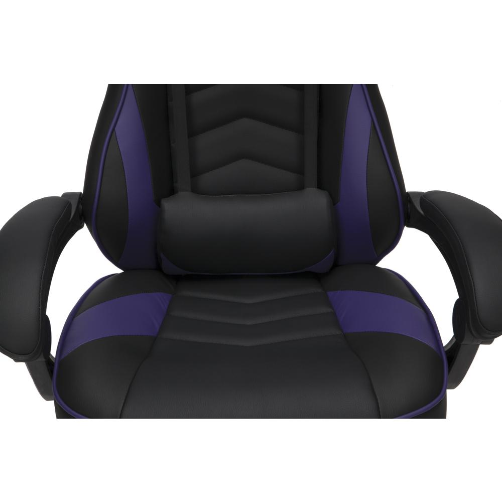 RESPAWN 110 Racing Style Gaming Chair with Footrest, in Purple. Picture 9