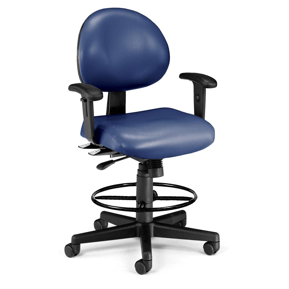 OFM 241-VAM-AADK Task Chair with Arms , Kit, Antimicrob Vinyl, Mid Back. Picture 1