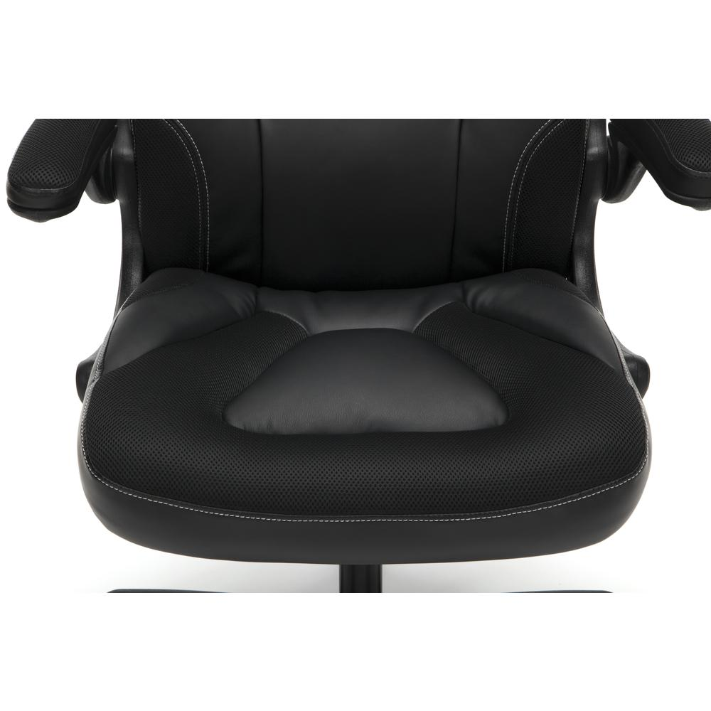 Racing Style Bonded Leather Gaming Chair, in Black. Picture 9