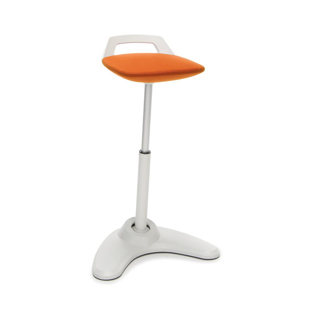 OFM Model 2800 Height Adjustable, Sit to St, Perch Stool, Cream Frame with Seat. Picture 1