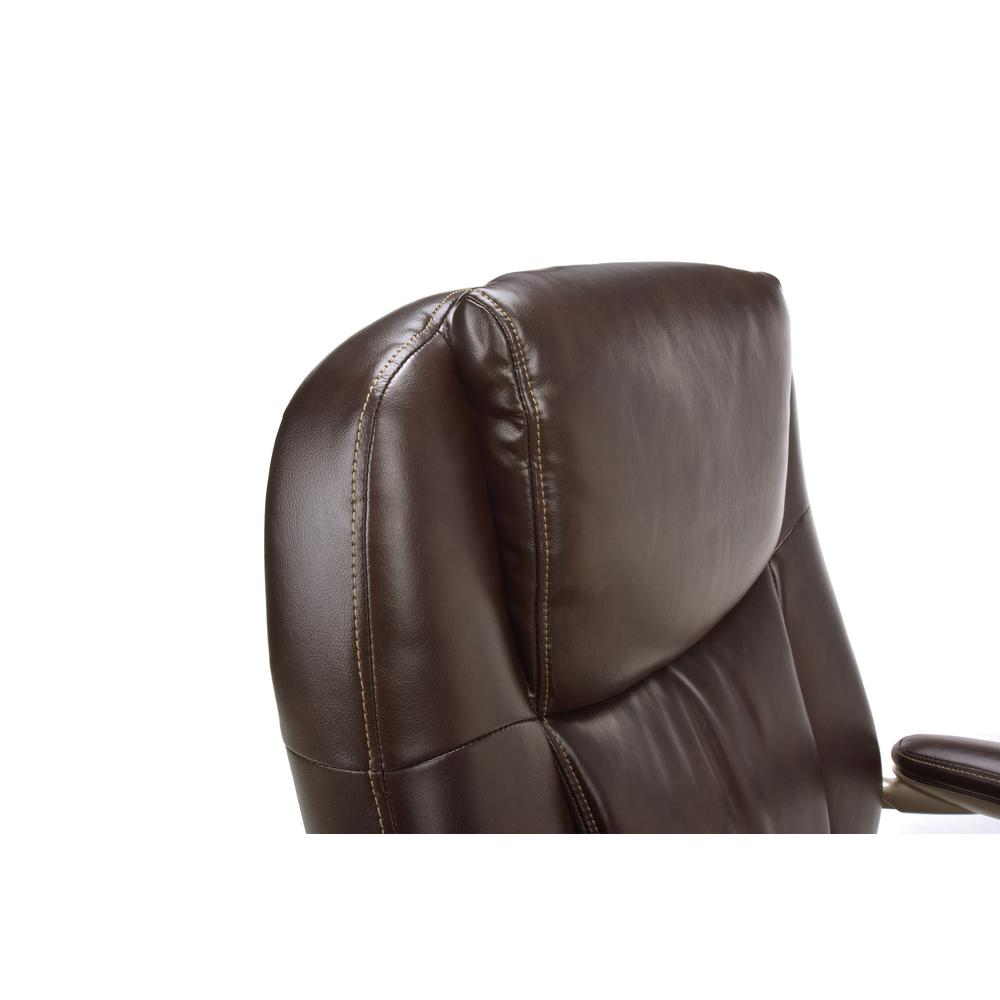 OFM ESS-201 Big and Tall Leather Office Chair with Arms, Brown/Bronze. Picture 6
