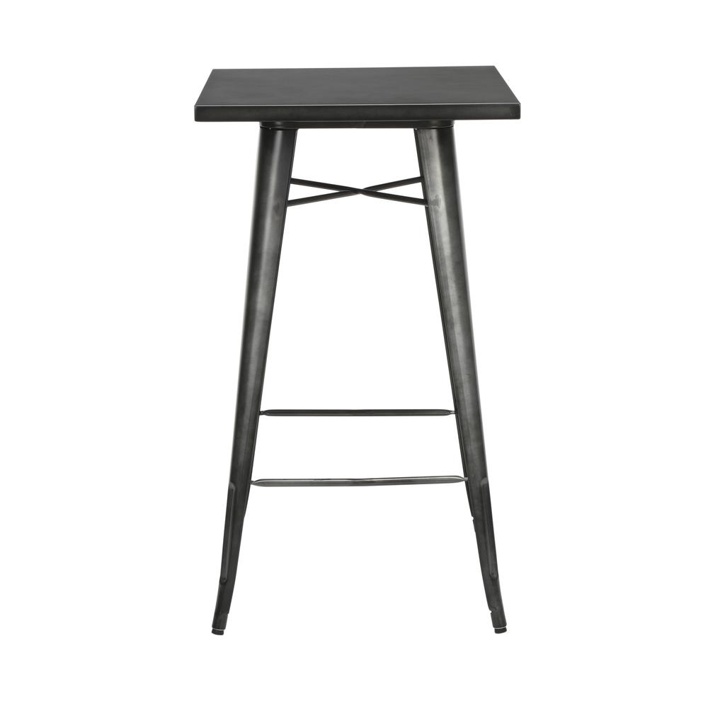 "The OFM 161 Collection Industrial Modern 24"" Square Bar Table with Footring is perfect for indoor or outdoor applications because its galvanized steel is coated in an anti-UV powder that helps prevent. Picture 4"