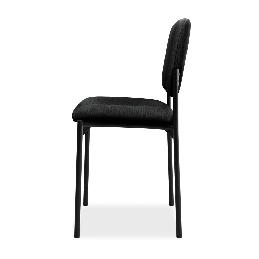 HON Scatter Guest Chair - Leather Stacking Chair Office Furniture, Black (VL606). Picture 5