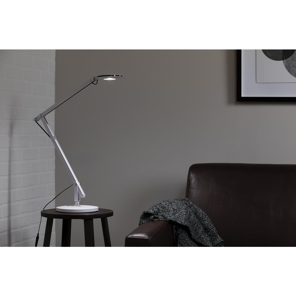 OFM 4020-WHT LED Desk Lamp with 3-in-1 Desk, Clamp, and Wall Mount, White. Picture 7