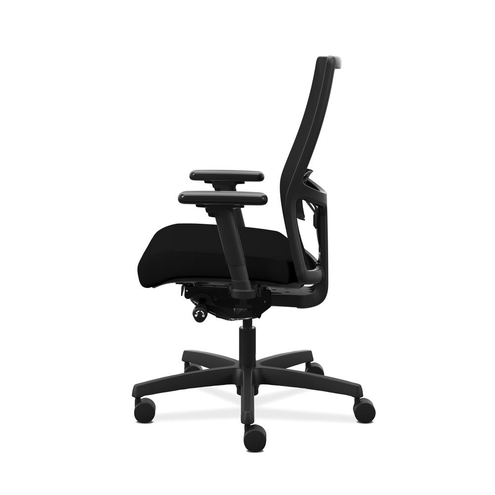 HON Ignition 2.0 Mid-Back Adjustable Lumbar Work Chair - Black Mesh Computer Chair for Office Desk, Black Fabric (HONI2M2AMLC10TK). Picture 5