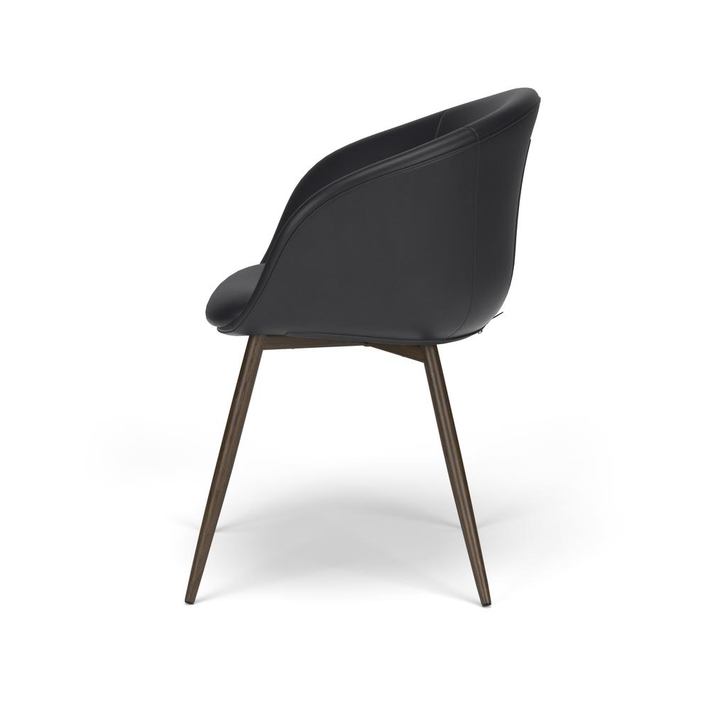 HON Basyx Monroe Bonded Leather Upholstered Guest Chair, in Black (BSX301SB11MW). Picture 5