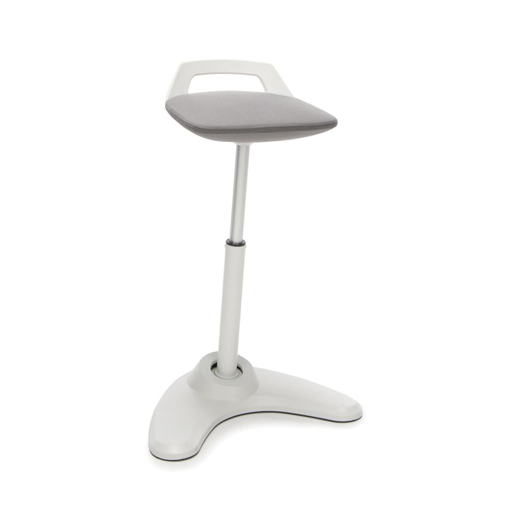 OFM Model 2800 Height Adjustable, Sit to St, Perch Stool, Cream Frame