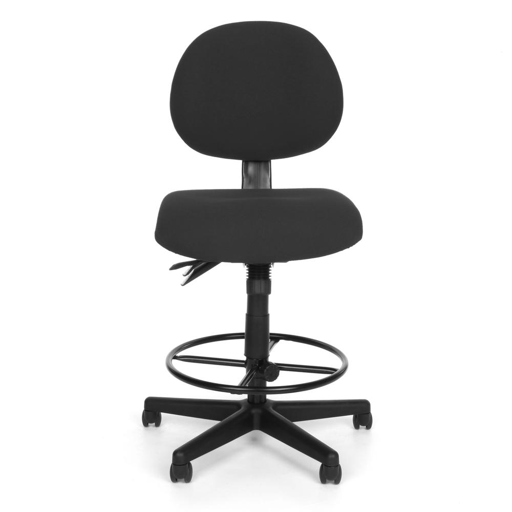 OFM 241-DK Upholstered Armless Task Chair with Kit, Charcoal. Picture 2