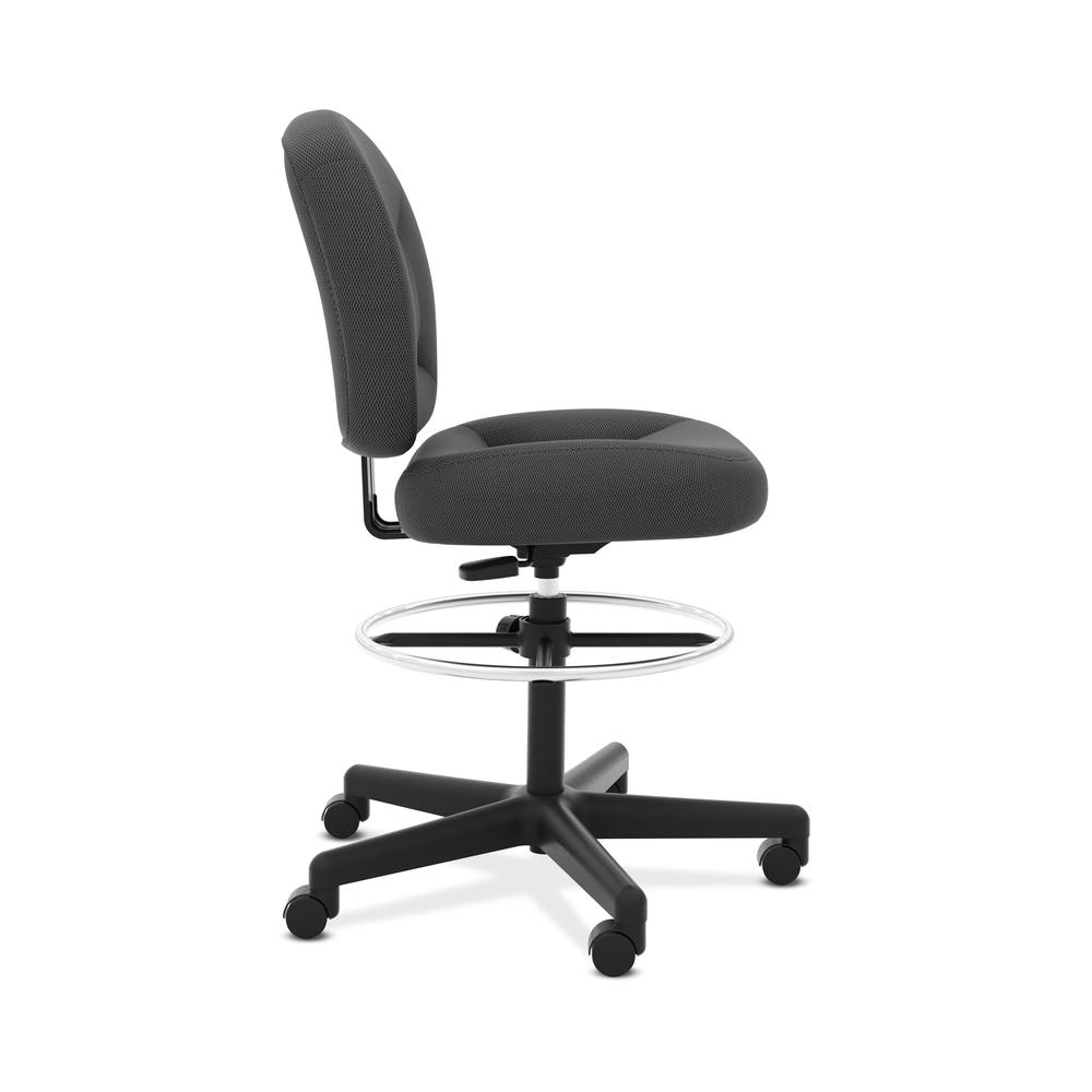 HON ValuTask Low-Back Task Stool Chair, in Black (HVL215). Picture 4