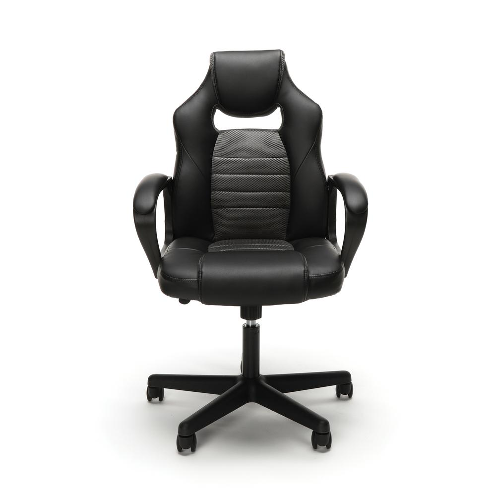 Essentials by OFM ESS-3083 Racing Style Gaming Chair, Gray. Picture 2