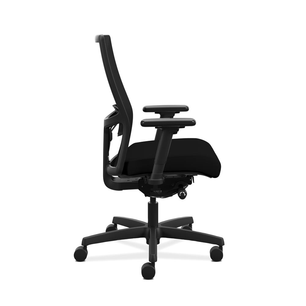HON Ignition 2.0 Mid-Back Adjustable Lumbar Work Chair - Black Mesh Computer Chair for Office Desk, Black Fabric (HONI2M2AMLC10TK). Picture 4
