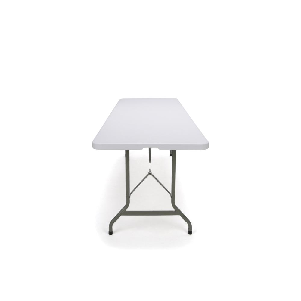 Essentials by OFM ESS-5096F 8' Blow Molded Center-Folding Utility Table, White. Picture 5