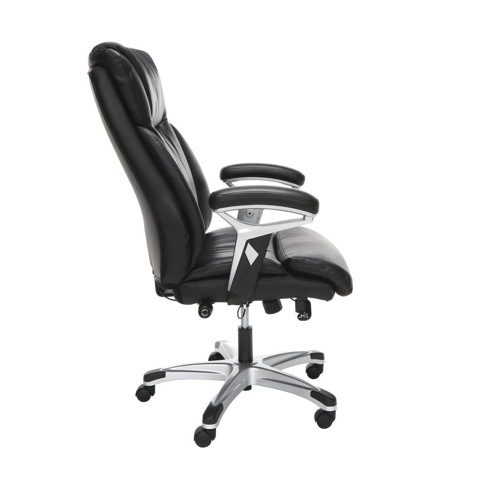 OFM Essentials Series Ergonomic Executive Bonded Leather Office Chair, in Black (ESS-6046-BLK). Picture 4