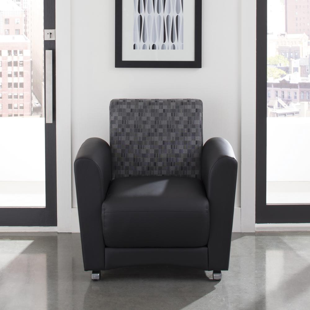 OFM InterPlay Series Single Seat Chair, in Nickel/Black (821-NCKL-PU606NT). Picture 7