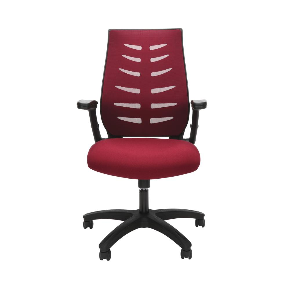 OFM Model 530-BURG Core Collection Midback Mesh Office Chair for Computer Desk, Burgundy. Picture 2