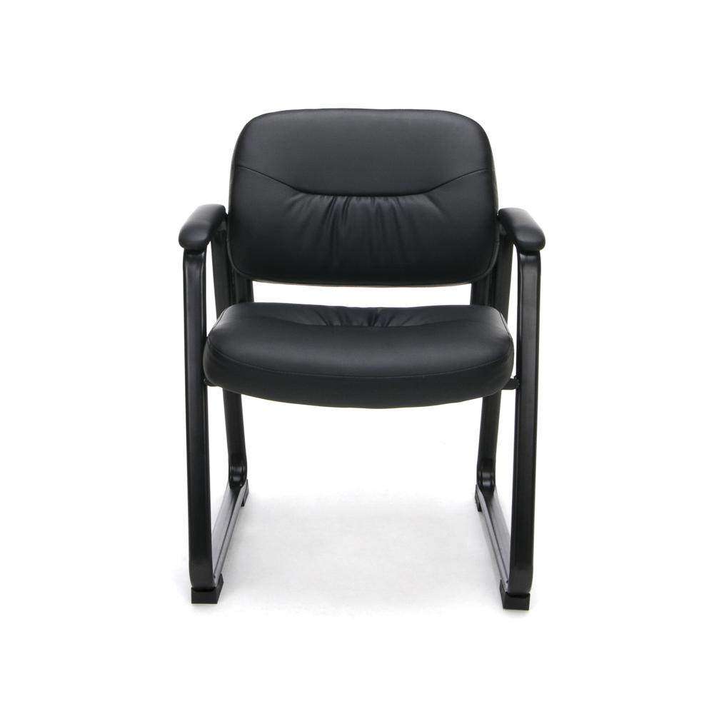 OFM ESS-9015 Bonded Leather Side Chair with SBase. Picture 2