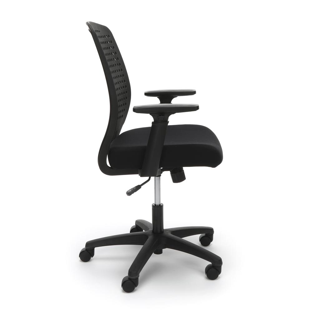 Essentials by OFM ESS-2055 Plastic Back Ergonomic Task Chair, Black with Black. Picture 4