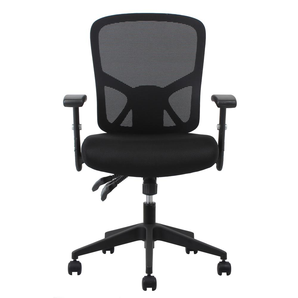 OFM ESS-3050 3-Paddle Mesh High-Back Task Chair with Arms and Support. Picture 2
