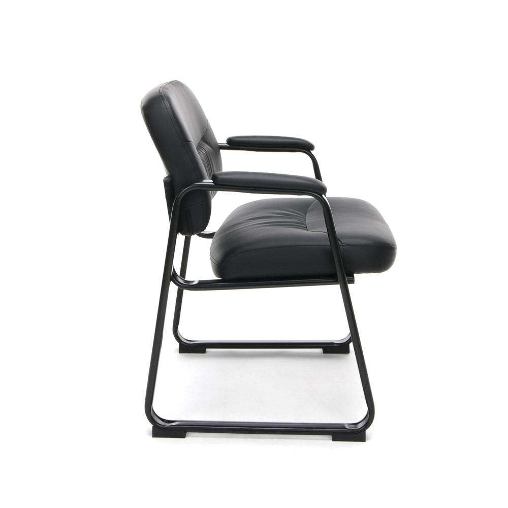 OFM ESS-9015 Bonded Leather Side Chair with SBase. Picture 4