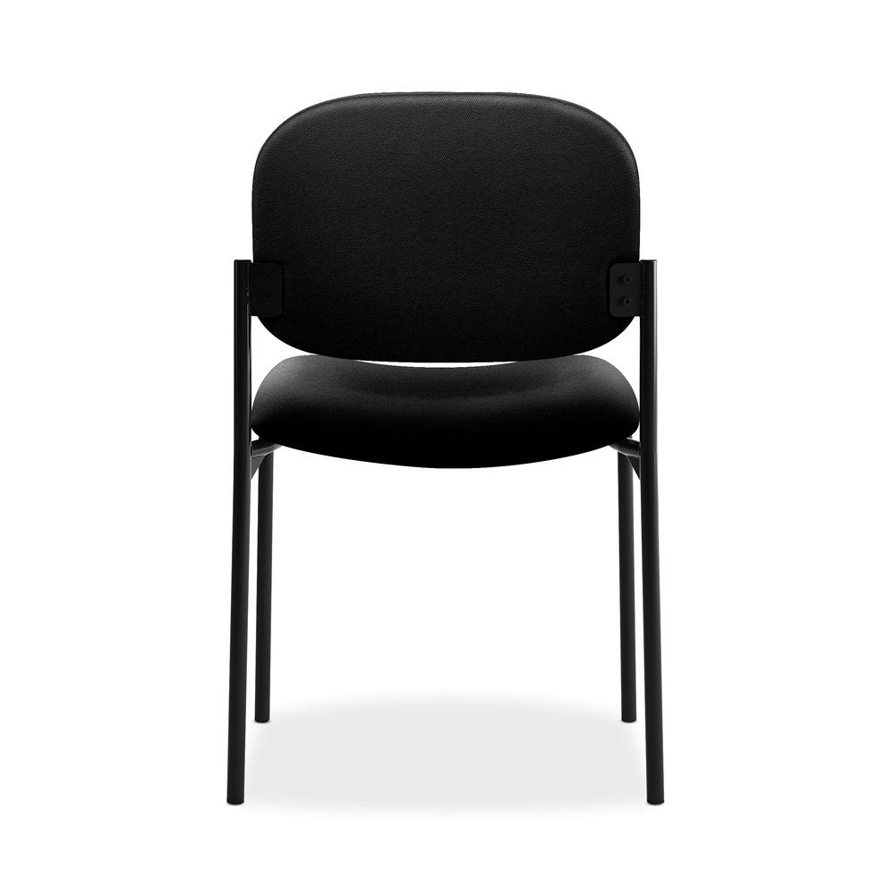 HON Scatter Guest Chair - Leather Stacking Chair Office Furniture, Black (VL606). Picture 3