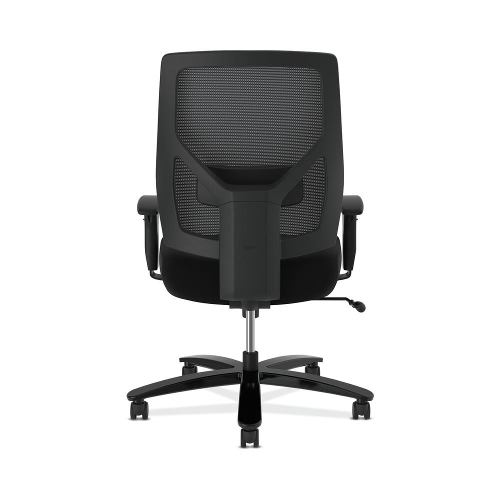 HON Crio High-Back Big and Tall Chair - Fabric Mesh Back Computer Chair for Office Desk, Black (HVL581). Picture 3