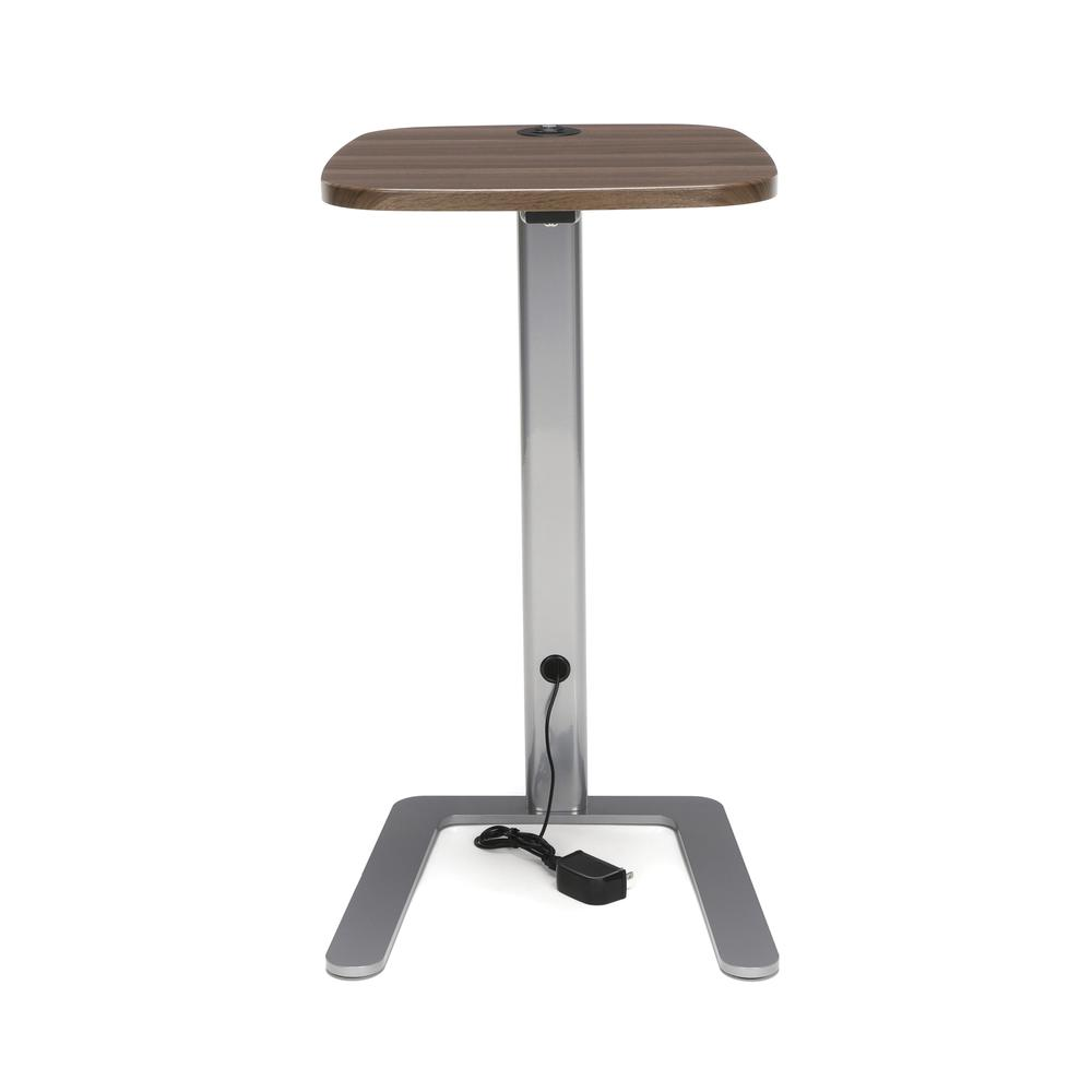 OFM Model ACCTAB Accent Table with USB Grommet, Walnut. Picture 2