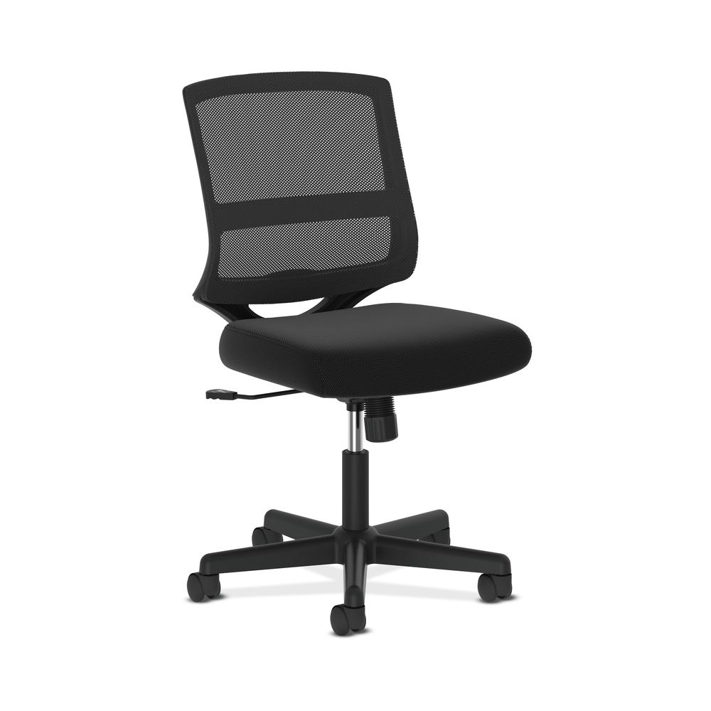 HON ValuTask Mid-Back Mesh Task Chair, Armless Black Mesh Computer Chair (HVL206). Picture 1